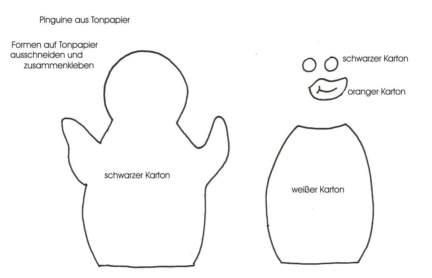 For kids malfertheiner landmaschinen - Pinguin basteln vorlage ...
